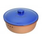 Chlebak RÖMERTOPF® - okrągły, terakota-niebieski