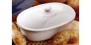 Chlebak średni RÖMERTOPF - owalny, biały